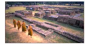 Monks at Buddha's Birthplace - Lumbini