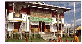 Sikkimese Monks at the Pemayangtse Monastery