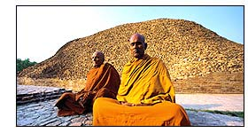 Monks Meditate  in Kushinagar